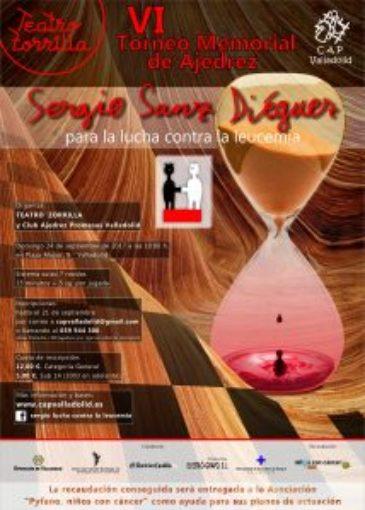 Cartel VI torneo memorial ajedrez Sergio Sanz Diéguez 1 e1513080167576