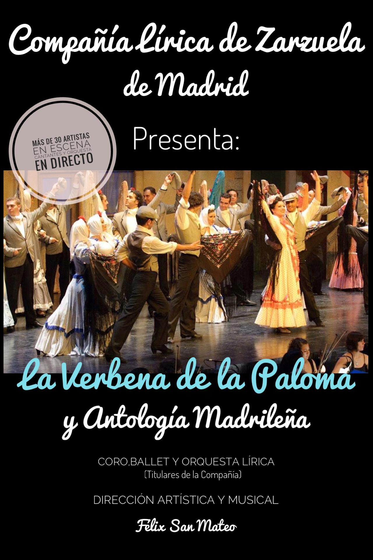 14 de Octubre: La verbena de la Paloma y Antología Madrileña