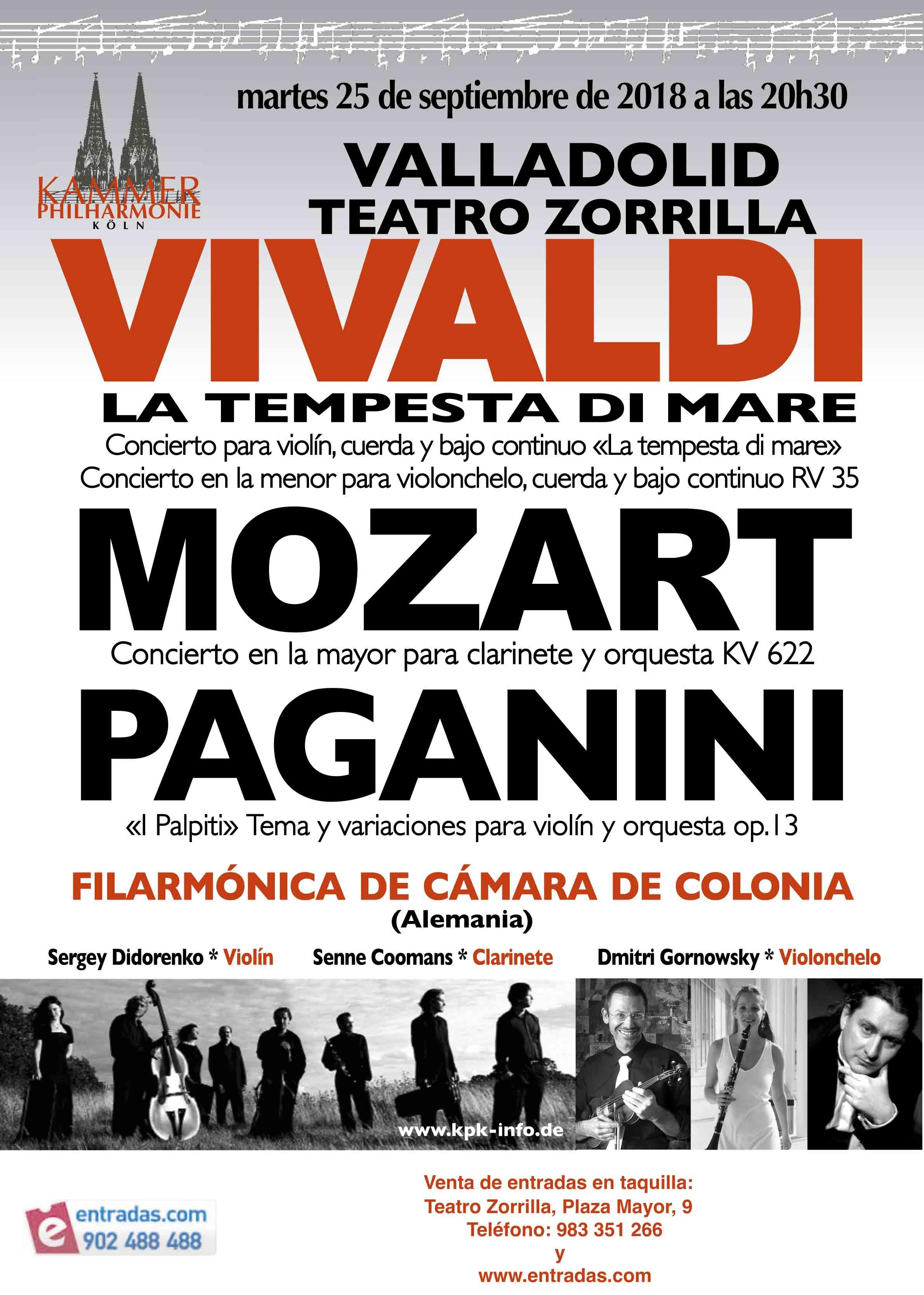 25 de Septiembre: Concierto Orquesta Filarmónica de Colonia